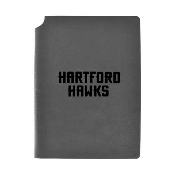 University of Hartford-Velour Journal with Pen Holder-Carbon Etched-Officially Licensed Collegiate Journal-Grey