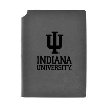 Indiana University-Velour Journal with Pen Holder-Carbon Etched-Officially Licensed Collegiate Journal-Grey