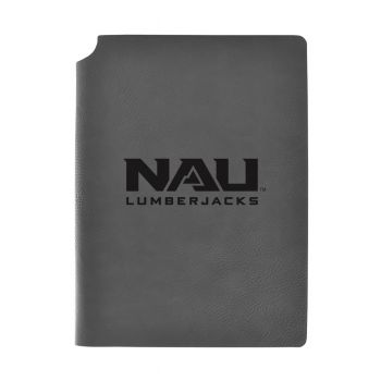 Northern Arizona University-Velour Journal with Pen Holder-Carbon Etched-Officially Licensed Collegiate Journal-Grey