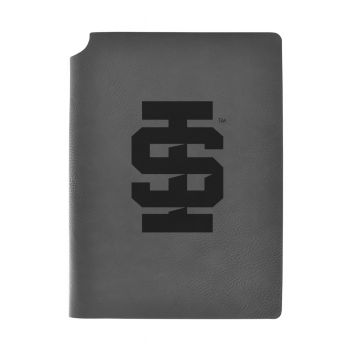 Idaho State University -Velour Journal with Pen Holder-Carbon Etched-Officially Licensed Collegiate Journal-Grey