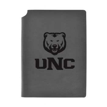 University of Northern Colorado-Velour Journal with Pen Holder-Carbon Etched-Officially Licensed Collegiate Journal-Grey