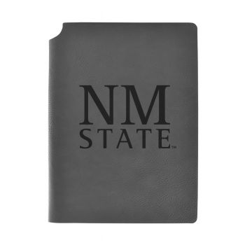 New Mexico State-Velour Journal with Pen Holder-Carbon Etched-Officially Licensed Collegiate Journal-Grey
