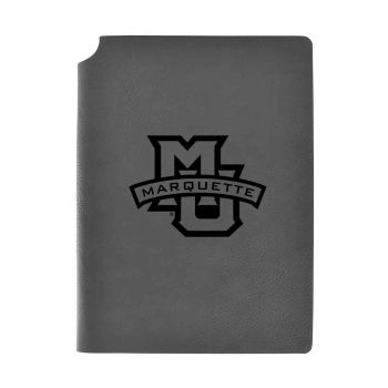 Marquette University-Velour Journal with Pen Holder-Carbon Etched-Officially Licensed Collegiate Journal-Grey