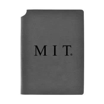 Massachusetts Institute of Technology-Velour Journal with Pen Holder-Carbon Etched-Officially Licensed Collegiate Journal-Grey