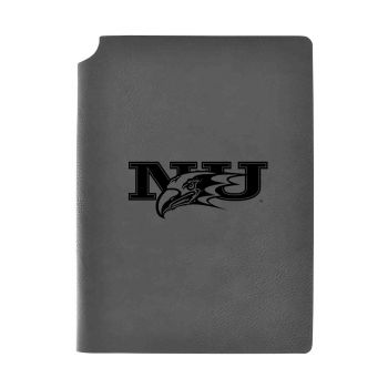 Niagara University-Velour Journal with Pen Holder-Carbon Etched-Officially Licensed Collegiate Journal-Grey
