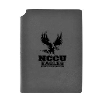 North Carolina Central University -Velour Journal with Pen Holder-Carbon Etched-Officially Licensed Collegiate Journal-Grey
