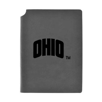 Ohio University-Velour Journal with Pen Holder-Carbon Etched-Officially Licensed Collegiate Journal-Grey