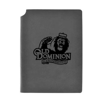 Old Dominion University -Velour Journal with Pen Holder-Carbon Etched-Officially Licensed Collegiate Journal-Grey