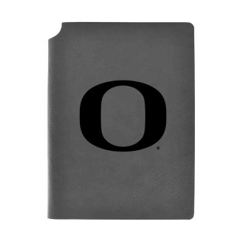 University Of Oregon -Velour Journal with Pen Holder-Carbon Etched-Officially Licensed Collegiate Journal-Grey