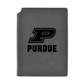 Purdue University-Velour Journal with Pen Holder-Carbon Etched-Officially Licensed Collegiate Journal-Grey