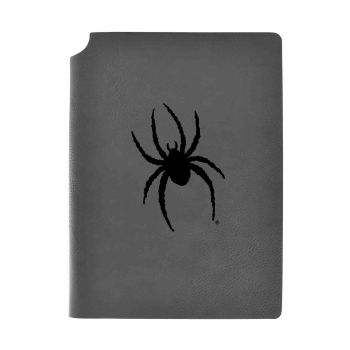 University of Richmond -Velour Journal with Pen Holder-Carbon Etched-Officially Licensed Collegiate Journal-Grey