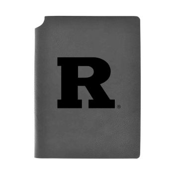 Rutgers University-Velour Journal with Pen Holder-Carbon Etched-Officially Licensed Collegiate Journal-Grey