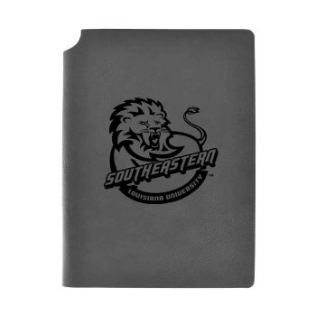 Southeastern Louisiana University-Velour Journal with Pen Holder-Carbon Etched-Officially Licensed Collegiate Journal-Grey