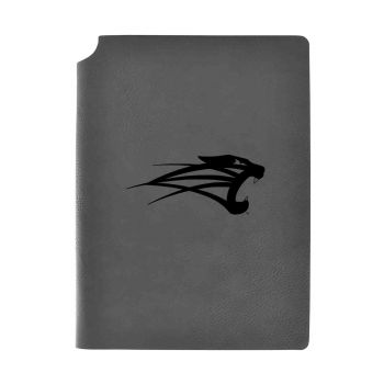 University of Saint Francis-Fort Wayne-Velour Journal with Pen Holder-Carbon Etched-Officially Licensed Collegiate Journal-Grey