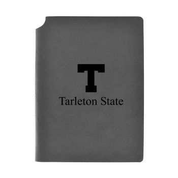 Tarleton State University-Velour Journal with Pen Holder-Carbon Etched-Officially Licensed Collegiate Journal-Grey