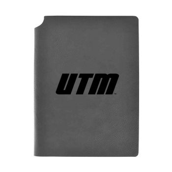 University of Tennessee at Martin-Velour Journal with Pen Holder-Carbon Etched-Officially Licensed Collegiate Journal-Grey