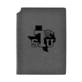 Texas Southern University-Velour Journal with Pen Holder-Carbon Etched-Officially Licensed Collegiate Journal-Grey