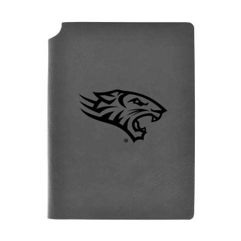 Towson University-Velour Journal with Pen Holder-Carbon Etched-Officially Licensed Collegiate Journal-Grey