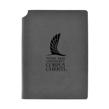 Texas A&M University-Corpus Christi-Velour Journal with Pen Holder-Carbon Etched-Officially Licensed Collegiate Journal-Grey