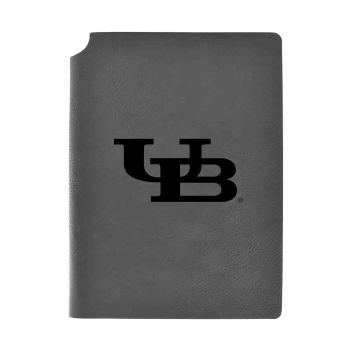 University at Buffalo-The State University of New York-Velour Journal with Pen Holder-Carbon Etched-Officially Licensed Collegiate Journal-Grey