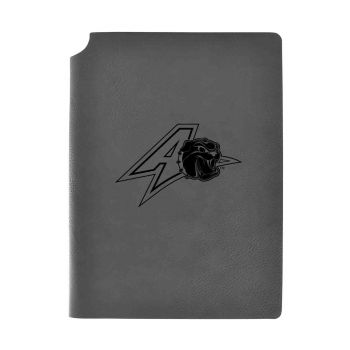 University of North Carolina at Asheville-Velour Journal with Pen Holder-Carbon Etched-Officially Licensed Collegiate Journal-Grey