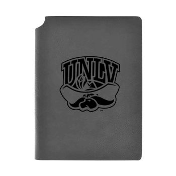 University of Nevada Las Vegas-Velour Journal with Pen Holder-Carbon Etched-Officially Licensed Collegiate Journal-Grey