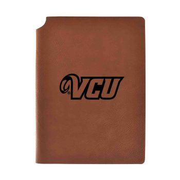 Virginia Commonwealth University-Velour Journal with Pen Holder-Carbon Etched-Officially Licensed Collegiate Journal-Grey