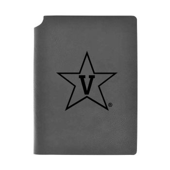 Vanderbilt University-Velour Journal with Pen Holder-Carbon Etched-Officially Licensed Collegiate Journal-Grey