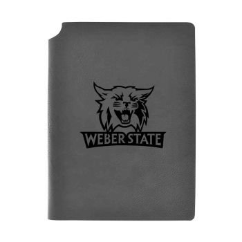 Weber State University-Velour Journal with Pen Holder-Carbon Etched-Officially Licensed Collegiate Journal-Grey