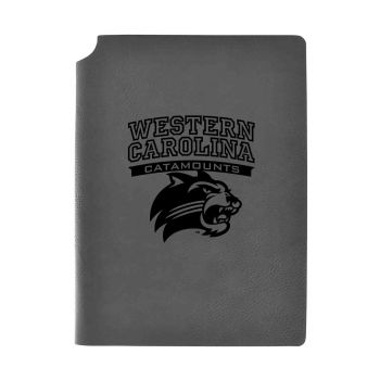 Western Carolina University -Velour Journal with Pen Holder-Carbon Etched-Officially Licensed Collegiate Journal-Grey