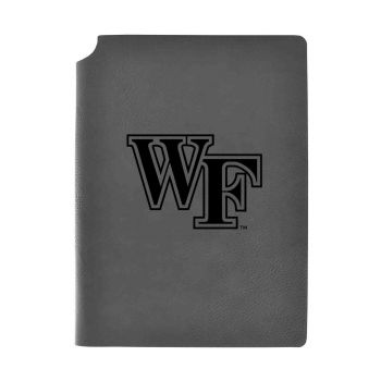 Wake Forest University-Velour Journal with Pen Holder-Carbon Etched-Officially Licensed Collegiate Journal-Grey
