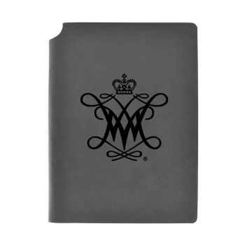 College of William & Mary-Velour Journal with Pen Holder-Carbon Etched-Officially Licensed Collegiate Journal-Grey