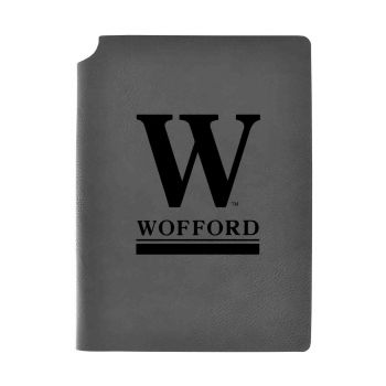 Wofford College-Velour Journal with Pen Holder-Carbon Etched-Officially Licensed Collegiate Journal-Grey