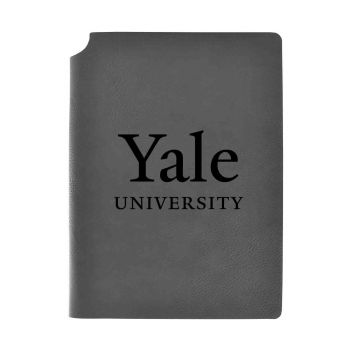 Yale University-Velour Journal with Pen Holder-Carbon Etched-Officially Licensed Collegiate Journal-Grey