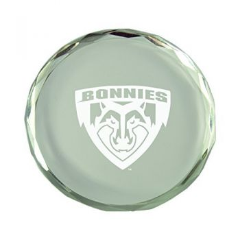 St. Bonaventure Bonnies -Crystal Paper Weight