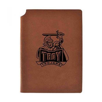 Troy University Velour Journal with Pen Holder|Carbon Etched|Officially Licensed Collegiate Journal|