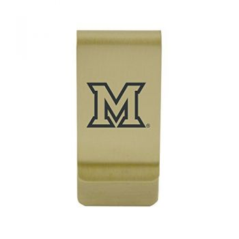 Mercer University|Money Clip with Contemporary Metals Finish|Solid Brass|High Tension Clip to Securely Hold Cash, Cards and ID's|Silver
