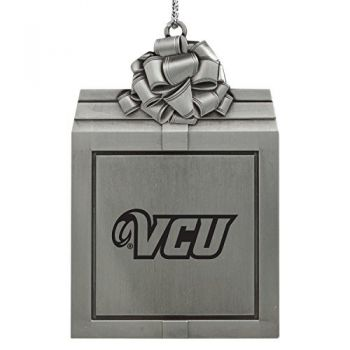Virginia Commonwealth University-Pewter Christmas Holiday Present Ornament-Silver