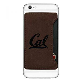 University of California Berkeley-Cell Phone Card Holder-Brown