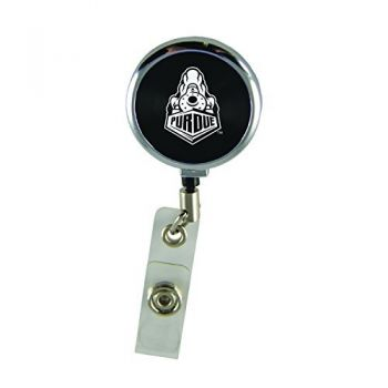 Purdue University-Retractable Badge Reel-Black