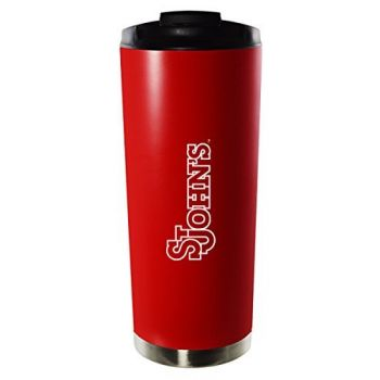 St. John's University-16oz. Stainless Steel Vacuum Insulated Travel Mug Tumbler-Red