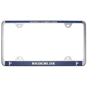 University of Pennsylvania-Metal License Plate Frame-Blue