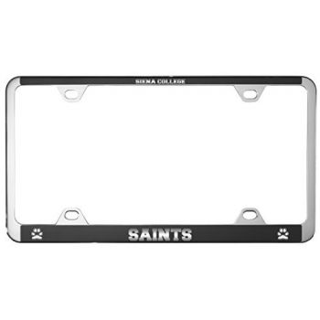 Siena College-Metal License Plate Frame-Black