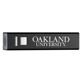 Oakland University - Portable Cell Phone 2600 mAh Power Bank Charger - Black