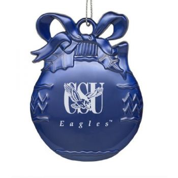 Coppin State University - Pewter Christmas Tree Ornament - Blue