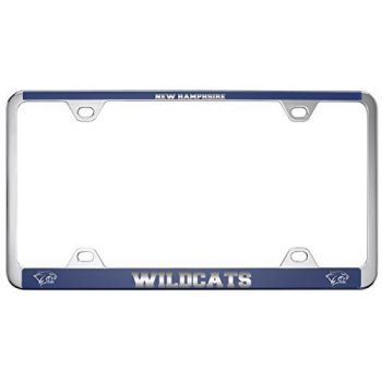 University of New Hampshire -Metal License Plate Frame-Blue