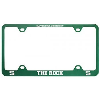 Slippery Rock University -Metal License Plate Frame-Green
