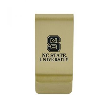 United States Naval Academy|Money Clip with Contemporary Metals Finish|Solid Brass|High Tension Clip to Securely Hold Cash, Cards and ID's|Silver