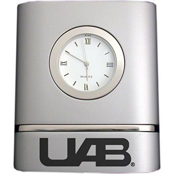 University of Alabama at Birmingham- Two-Toned Desk Clock -Silver
