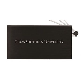 8000 mAh Portable Cell Phone Charger-Texas Southern University -Black